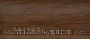 0026 Дуб морган - плинтус напольный пластиковый ТіС (ТИС)   с кабель каналом и резиновыми краями - 56мм