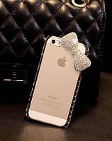 Чехол для iPhone 5 5S бант с кристаллами, фото 1