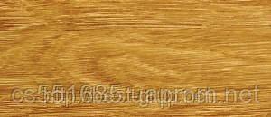 0028 Дуб комо - плинтус напольный пластиковый ТіС (ТИС)   с кабель каналом и резиновыми краями - 56мм