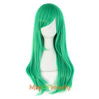 Новинка! Женский стильный парик, длинные прямые волосы, 60 см, косплей парик, цвет зеленый
