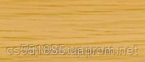 0034 Дуб паркетный- плинтус напольный пластиковый ТіС (ТИС)   с кабель каналом и резиновыми краями - 56мм