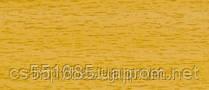 0037 Дуб горный- плинтус напольный пластиковый ТіС (ТИС)   с кабель каналом и резиновыми краями - 56мм