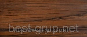 0040 Орех- плинтус напольный пластиковый ТіС (ТИС)   с кабель каналом и резиновыми краями - 56мм