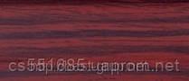 0041 Махагон - плинтус напольный пластиковый ТіС (ТИС)   с кабель каналом и резиновыми краями - 56мм