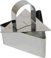 Сервировочная треугольная кулинарная форма с порессом  Мousse mold