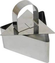 Сервировочная треугольная кулинарная форма с прессом  Мousse mold