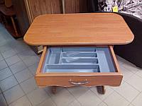 Кухонный стол ЦЕЗАРЬ с ящиком ольха