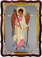 Икону купить Ангела Хранителя с фоном под серебро