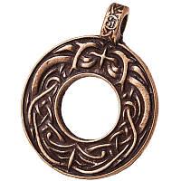 Кельтские Узлы / Кельтский Амулет / Бронзовое покрытие + брелок /    Символ   вдохновения и прочных взаимоотношений. 3x2 см