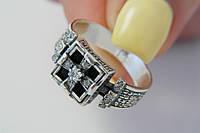 Перстень серебряный мужской с молитвой
