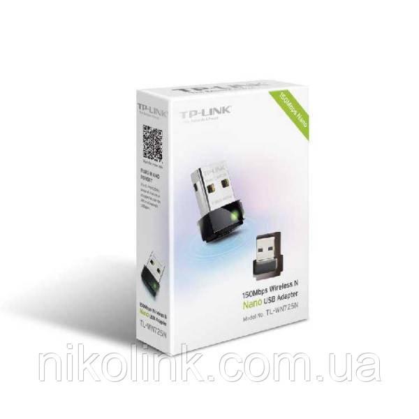 Сетевая карта Wi-Fi TP-Link TL-WN725N N150Mbps, IEEE 802.11 b/g/n, USB, nano, BOX