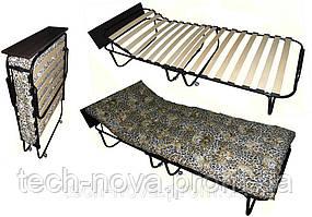 Раскладушка с подголовником, с полкой, с матрацем (190 х 80 см)