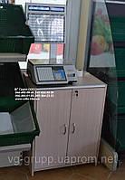 Тумба под весы в супермаркет. Тумбочка под весы самообслуживания