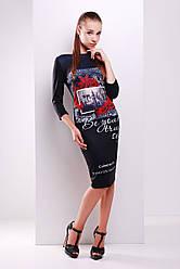 платье GLEM Colourno 19 черный платье Лоя-2Ф д/р