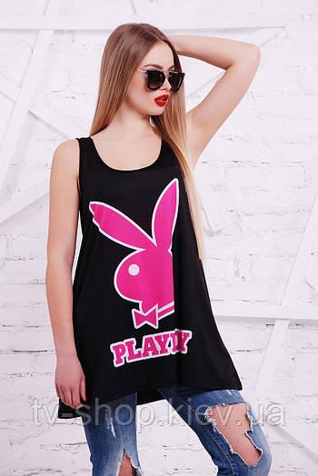 майка GLEM Playboy розовый майка Классик