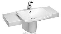 Раковина-столешница для ванной подвесная Jacob Delafon ESCALE 100х52х17.5 белая 1280-00