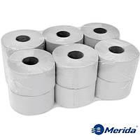 Туалетная бумага Merida Economy серая однослойная в рулоне джамбо Mini 180 м., Польша