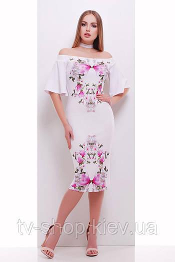 платье GLEM Букет магнолии платье Мальфа-2КД к/р