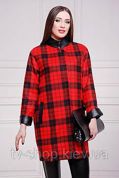 Пальто GLEM Клетка красно-черная пальто Клоди2
