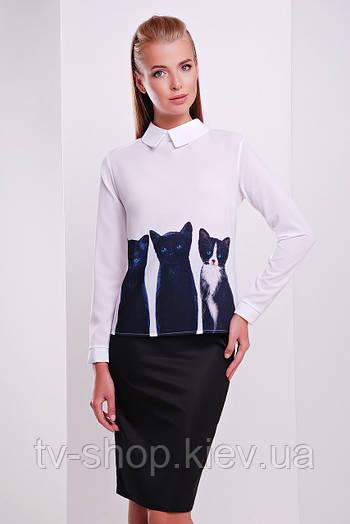 блуза GLEM Котики блуза Милина д/р