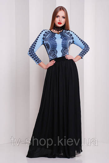 платье GLEM Кружево черное платье Памония д/р