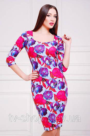 платье GLEM Пионы 3 платье Вики д/р