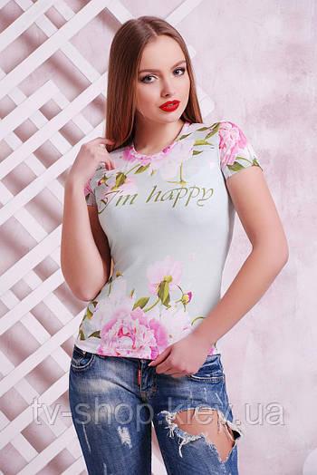 футболка GLEM Пионы Футболка-1В