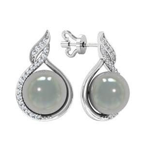 Сережки срібні цвяшки Крапля Перлів 310770