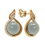 Сережки срібні цвяшки Крапля Перлів 310770, фото 2