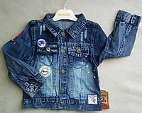 Детская джинсовая куртка 2-5 лет Overdo Турция оптом