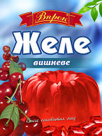 """Желе вишневое на желатине 80 г  ТМ """"Впрок"""""""