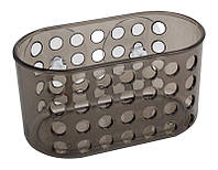 Полочка для ванной комнаты на присосках Arino Aqua 15,7х8х8,4 см серая