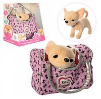 Интерактивная собачка Кикки в сумке M 3482, аналог Chi Chi love