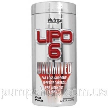 Жиросжигатель Nutrex Lipo-6 Unlimited 150 г (60 порц.), фото 2