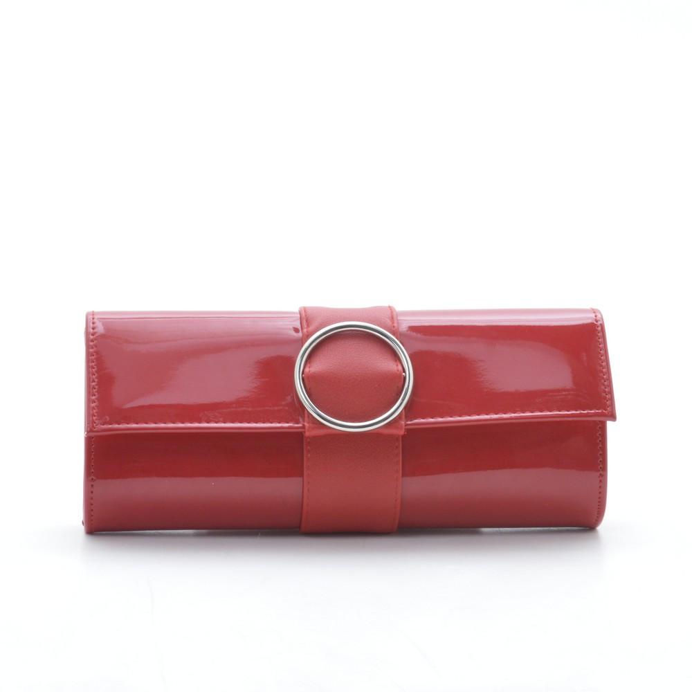 8ef2a2d67be2 Вечерний лаковый красный клатч Circle - Kit Bag - женские сумки, кошельки и  клатчи в