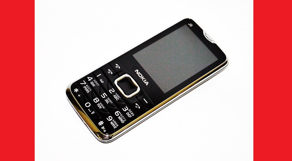 """Телефон Nokia J9 Черный - 2Sim + 2,2"""" - Громкий динамик"""