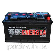 Аккумулятор Energia 6СТ-100, пусковой ток 800En, 352х175х190, гарантия 12 мес., эконом класс