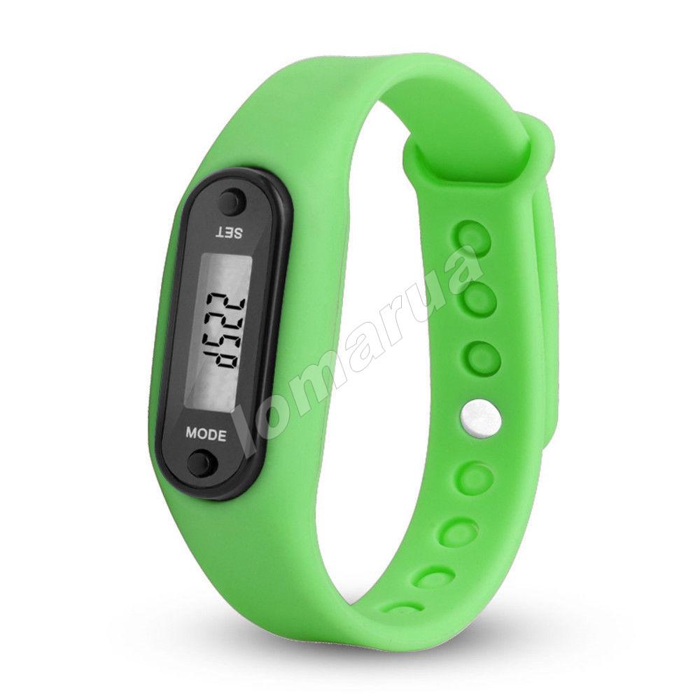 Фитнес браслет часы шагомер счетчик калорий II Green