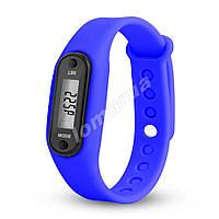 Фитнес браслет часы шагомер счетчик калорий II Blue