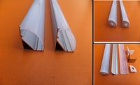 Профиль угловой для светодиодной ленты,линейки. ХН-076. КОМПЛЕКТ