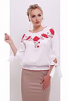 Женская вышиванка блуза Иванка д/р белый