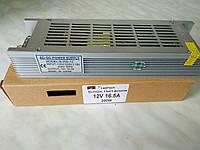 """Блок питания 12V 16.5A 200Вт """"LONG"""" в перфорированом корпусе для светодиодной ленты"""