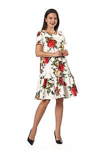 Платье Бриана 0255_1 Белое с розами