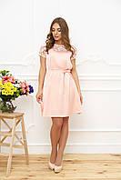 Шелковое платье  44, Персиковый