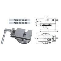 Тиски станочные поворотные 80 мм. 7200-0204-02