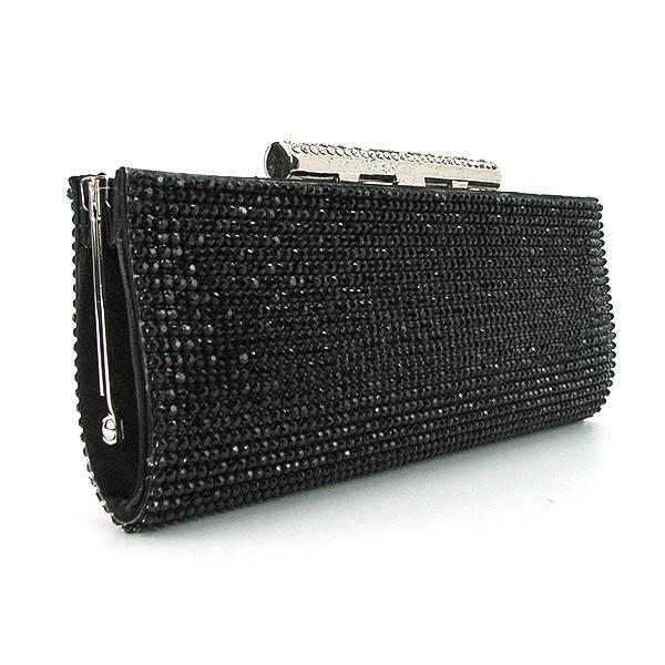 0dad9c7f9377 Женский клатч из камней вечерний черный на цепочке - Интернет магазин сумок  SUMKOFF - женские и