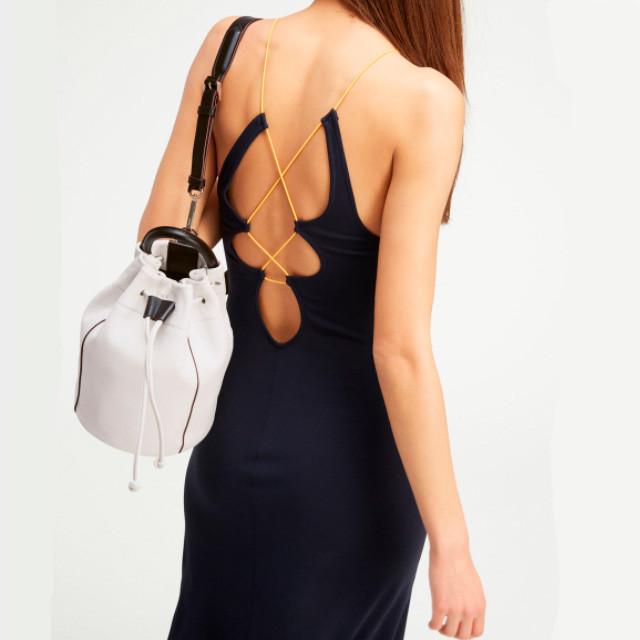 Женский кожаный рюкзак DKNY