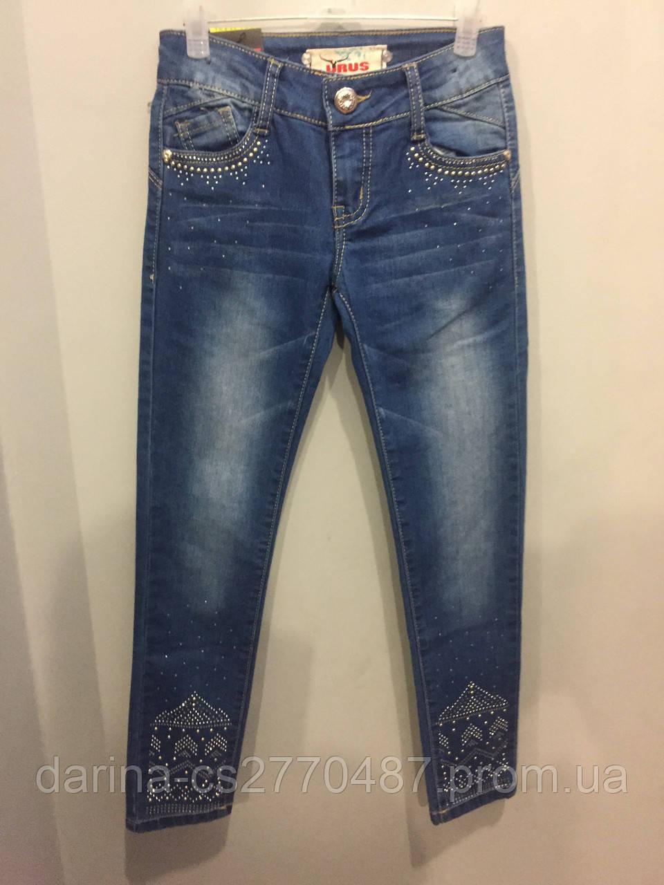 Джинсовые брюки на девочку подростка 140, 164 см