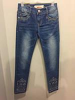 Джинсовые брюки на девочку подростка 140, 164 см, фото 1