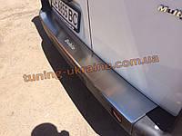 Накладка на задний бампер с загибом NataNiko на Fiat Doblo 2005-2010